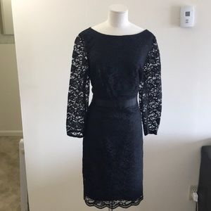 The Limited black dress with lace detail size 14